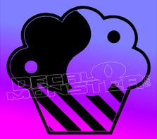 Yin and Yang Cupcake Candy Decal Sticker DM