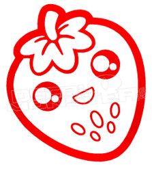 Berry Happy StrawBerry Decal Sticker DM