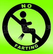 No Farting Allowed Decal Sticker DM