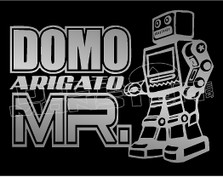 Domo Arigato Mr.roboto decal sticker dm