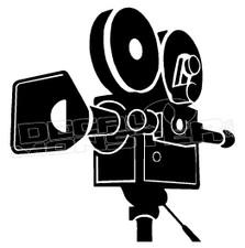 Film Recorder Silhouette Decal Sticker DM