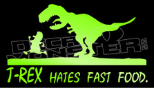T-Rex Funny Food Decal Sticker DM