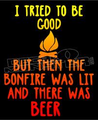 Bonfire Etiquette Beer Decal Sticker DM