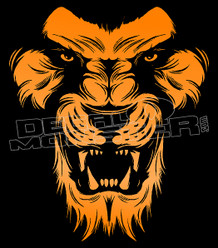 Mean Lion Silhouette Decal Sticker DM