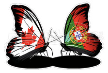 Portuguese Canadaian Butterflies Decal Sticker DM