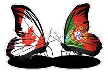 Portuguese Canadaian Butterflies Decal Sticker DM