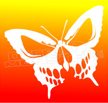 No Fear Butterfly Skull Decal Sticker DM