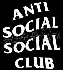 Anti Social Social Club Logo Decal Sticker DM