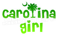 Carolina Girl Decal Sticker DM