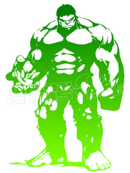The Hulk Silhouette 3 Decal Sticker DM
