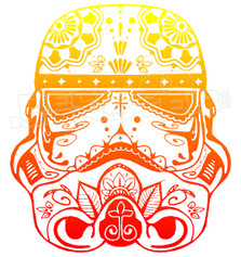 Stormtrooper Sugar Skull Decal Sticker DM