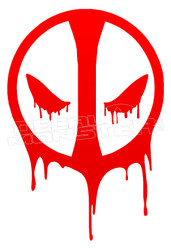 Blood Dripping Dead Pool Decal Sticker DM