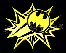 Batman Flash Logo 1 Decal Sticker DM