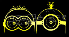 Movie Minions Carl and Dave Decal Sticker DM