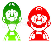 Video Game Mario and Luigi Silhouette Decal Sticker DM