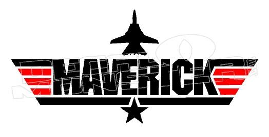 Maverick Aircraft Logo Top Gun Movie Decal Sticker DM