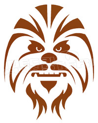 Chewbacca Silhouette Decal Sticker DM