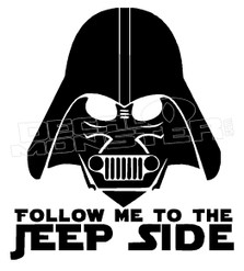 Follow me to the Jeep Side Decal Sticker DM