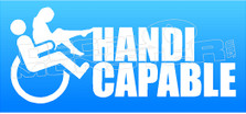 Handicapable Decal Sticker DM