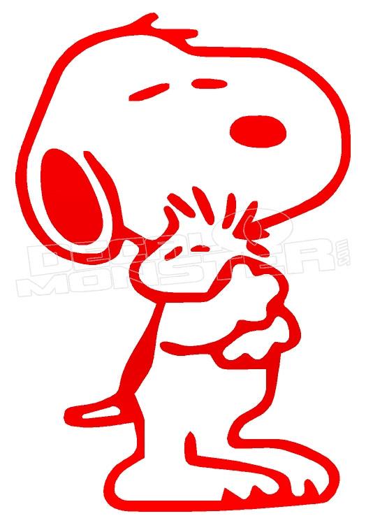 Snoopy Love Woodstock Decal Sticker Dm