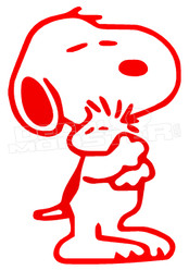 Snoopy Love Woodstock Decal Sticker DM
