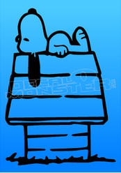 Snoopy Doghouse 1 Decal Sticker DM