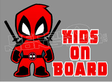 Dead Pool Movie Kids on Board Decal Sticker DM