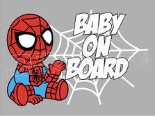Spiderman Baby on Board 5 Decal Sticker DM
