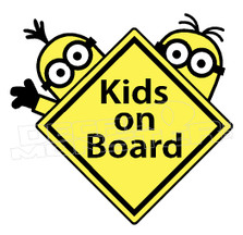 Movie Despicable Me Minions Kids on Board 2 Decal Sticker DM