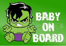 Movie Hulk Baby on Board 6 Decal Sticker DM