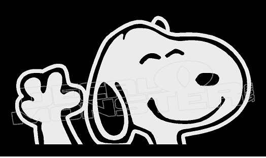 Snoopy Wave Silhouette 4 Decal Sticker Dm
