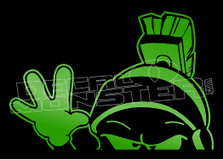 Marvin the Martian Wave Silhouette 5 Decal Sticker DM