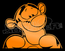 Cartoon Loonie Tunes Tigger 1 Decal Sticker DM
