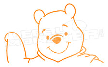 Cartoon Winnie the Pooh Wave Decal Sticker DM
