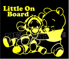 Cartoon Winnie the Pooh Little on Board Decal Sticker DM