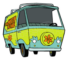 Cartoon Scooby-Doo Mystery Machine Decal Sticker DM
