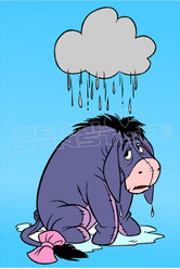 Sad Eeyore Silhouette 2 Decal Sticker DM