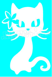 Maui Aloha Cat Silhouette Decal Sticker