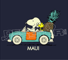 Driving Snoopy 2 Maui Island Style Silhouette Decal Sticker