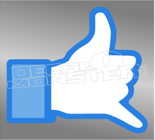 Shaka Funny Facebook Decal Sticker