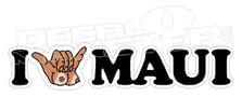 Shaka Titties I Heart Maui Decal Sticker