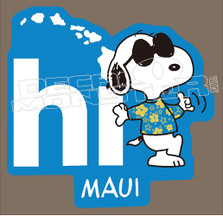 Chillax Snoopy Maui Style Decal Sticker