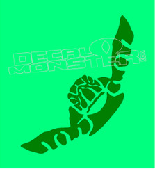 Swimming Turtle Silhouette 1 Decal Sticker