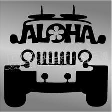 Hawaii Aloha Jeep Decal Sticker