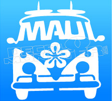 Maui Surf Bus Silhouette 1 Decal Sticker