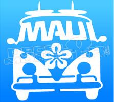 Maui Surf Bus Silhouette 1 Decal Sticker