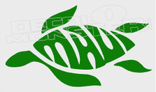 Maui Turtle Silhouette Decal Sticker