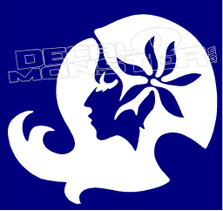 Maui Babe Island Girl Silhouette Decal Sticker