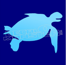 Happy Turtle Silhouette 1 Decal Sticker