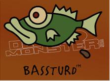 Fishing Bassturd Funny Decal Sticker DM